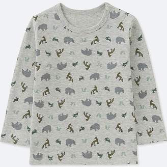 Uniqlo Toddler Crew Neck Long-sleeve T-Shirt