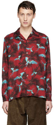 Needles Red Printed Cut-Off Shirt