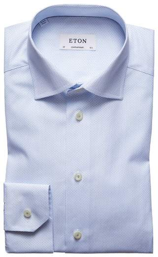 Contemporary Fit Print Dress Shirt
