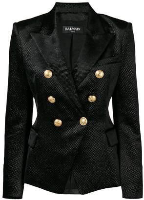 Balmain rhinestone embellished blazer