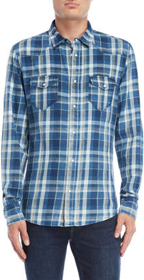 Gaudi' Gaudi Jeans Plaid Flap Pocket Shirt