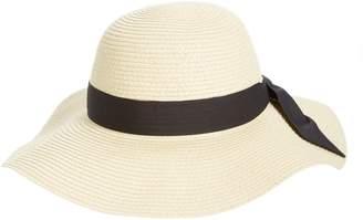 BP Bow Band Floppy Straw Hat