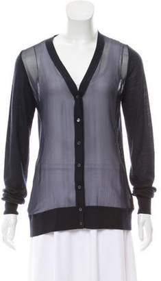 Loro Piana Cashmere Sheer-Paneled Cardigan