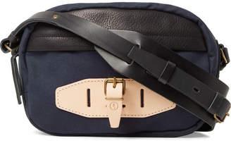 Bleu de Chauffe Leather-Trimmed Canvas Bag