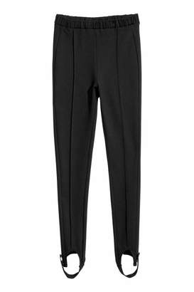 H&M Stirrup Leggings - Black - Women