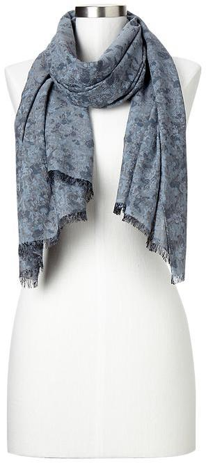 Gap Floral chambray scarf