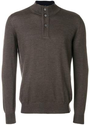Fay buttoned neck pullover