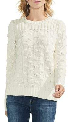 Vince Camuto Estate Jewels Petite Mixed Knit Pullover