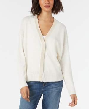 Eileen Fisher Organic Linen Glitter-Trim Cardigan