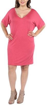 24/7 Comfort Apparel Ashton Plus Size Mini Dress