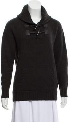 Ralph Lauren Wool-Blend Toggle Sweater Black Wool-Blend Toggle Sweater