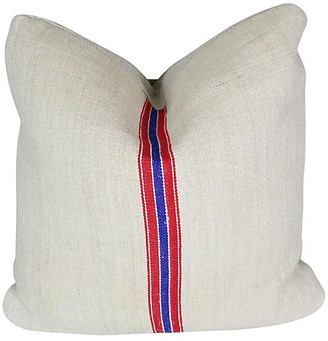 One Kings Lane Vintage Seed Bag Pillow - Schorr & Dobinsky