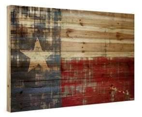 Parvez Taj Texas Painting Print on Natural Pine Wood