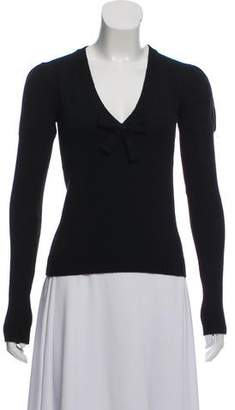 Andrew Gn Bow-Accented Wool Sweater