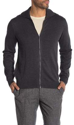 Perry Ellis Funnel Neck Full Zip Cardigan