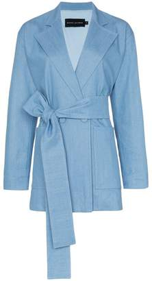 Michael Lo Sordo long belted denim blazer
