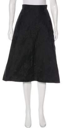Rochas Silk Jacquard Skirt
