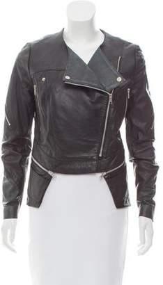 Preen by Thornton Bregazzi Preen Zip-Up Leather Jacket w/ Tags
