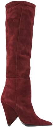 Aldo Castagna Bordeaux Suede Boots.