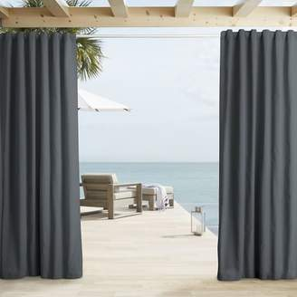 west elm Outdoor Solid Curtain - Cavern