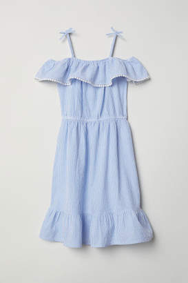 H&M Open-shoulder Dress - Blue