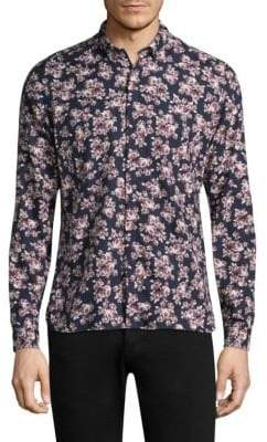 The Kooples Floral Cotton Button-Down Shirt