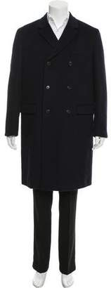 Prada Double-Breasted Cashmere Overcoat
