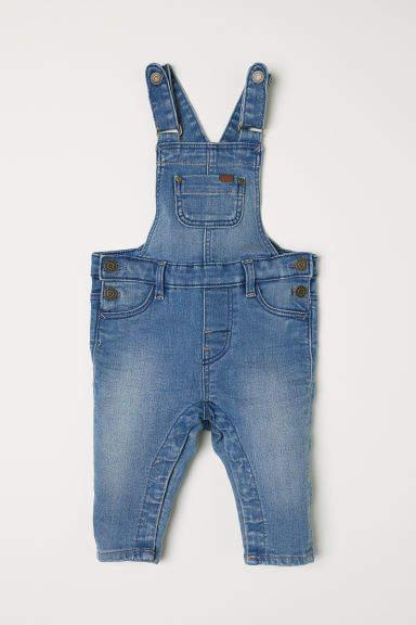 H&M - Denim Bib Overalls - Blue