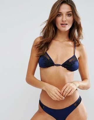 Lost Ink Lace Motif Bikini Top