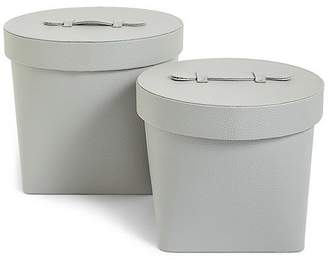 Marks and Spencer Set of 2 Faux Leather Hat boxes