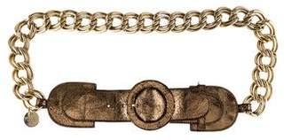 Patrizia Pepe Leather Chain Belt
