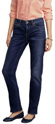 Lands' End Blue Petite Medium Wash Mid Rise Straight Leg Jeans