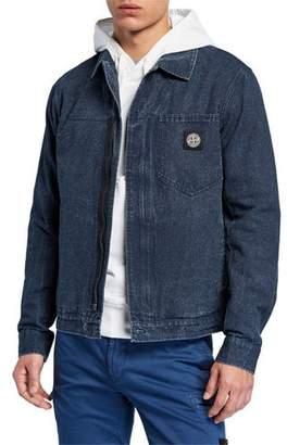 e1ffa60dfa0 Stone Island Men's Zip-Front Denim Jacket