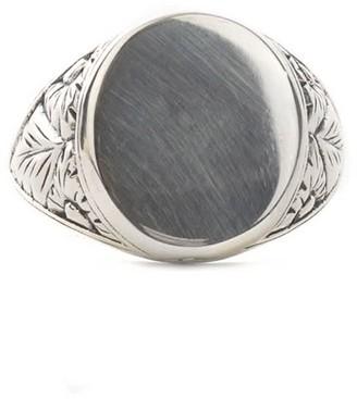 Serge Denimes Silver Thistle Ring