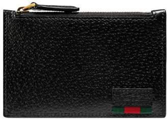 Gucci Leather card case with Web