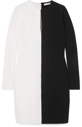 Givenchy Two-tone Crepe Dress - Black