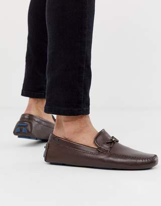 Ted Baker Conari drivers in brown leather