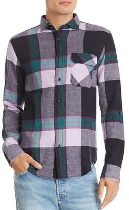 Scotch & Soda Plaid Double-Faced Regular Fit Flannel Shirt
