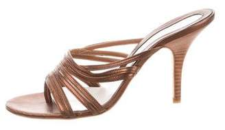 Calvin Klein Collection Leather Strappy Sandals