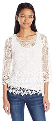My Michelle Junior's All Over Crochet Lace Top