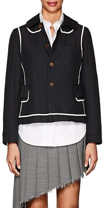Comme des Garcons Women's Twill Peter-Pan-Collar Jacket