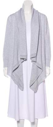 Cotton by Cashmere Open-Front Knit Sweater
