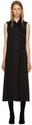 MM6 MAISON MARGIELA Black Just Wash Sleeveless Denim Dress