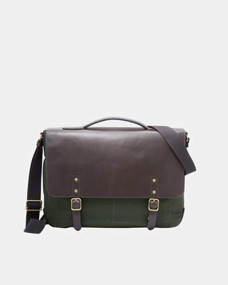 Fossil Haskell Green Messenger Bag