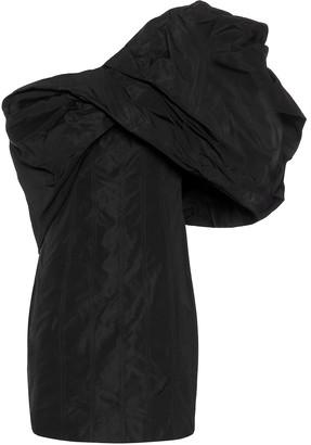Givenchy One-shoulder taffeta minidress