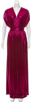 Halston Metallic Maxi Sleeveless Dress