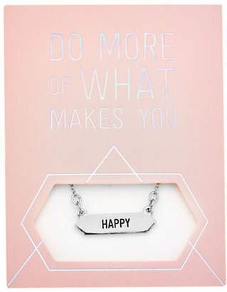 FOXY ORIGINALS Statement Happy Silverplated Necklace