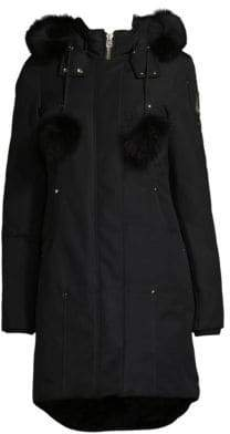 Moose Knuckles Women's Stirling Fox Fur-Trimmed Parka - Black - Size XS
