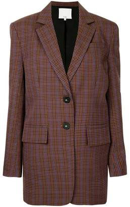 Tibi check oversized blazer