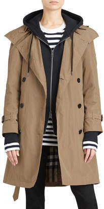 Burberry Amberford Taffeta Trench Coat with Detachable Hood